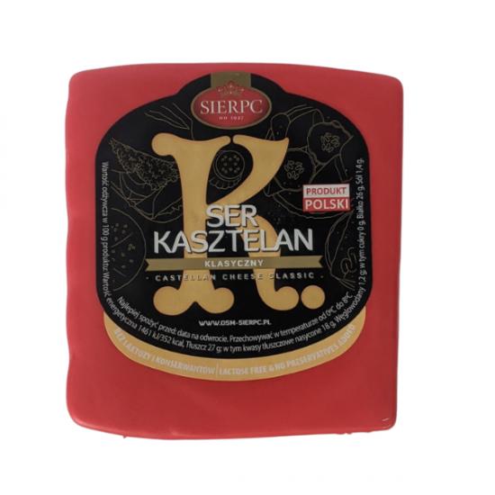 Сыр твёрдый Каштелан Sierpc Ser Kasztelan без лактозы 500г