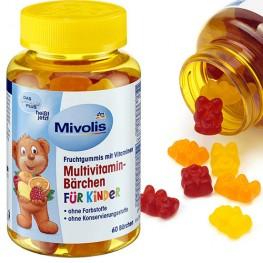 Жевательные мультивитамины для детей Mivolis 60 шт