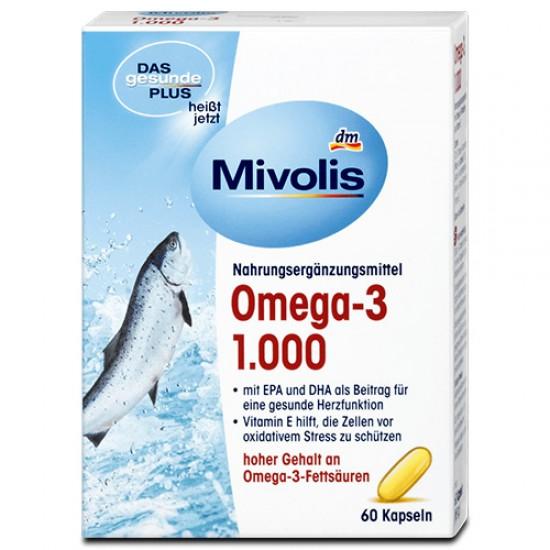 Омега 3 Рыбий жир Omega - 3, 1000mg Mivolis  60 шт.