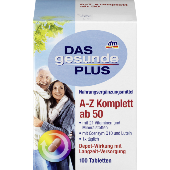 Витамины Das gesunde Plus A-Z Komplett ab 50 100 шт