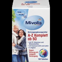 Витамины  Mivolis  A-Z Komplett ab 50 100 шт