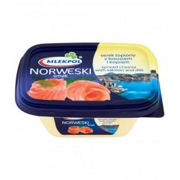 Cыр плавленный c лососем и укропом Mlekpol Norweski  smak 150г