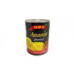 Ананасы консервированные  Ananas Plastry w lekkim syropie 565г