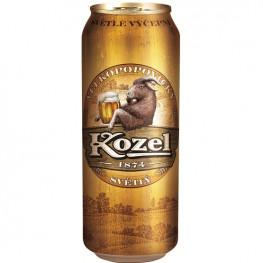 Пиво Velkopopovický Kozel светлое 0,5 л ж/б
