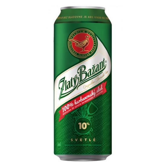 Пиво Zlaty Bazant светлое 0,5л  ж/б