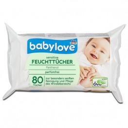 Влажные салфетки Babylove sensitive 80 шт