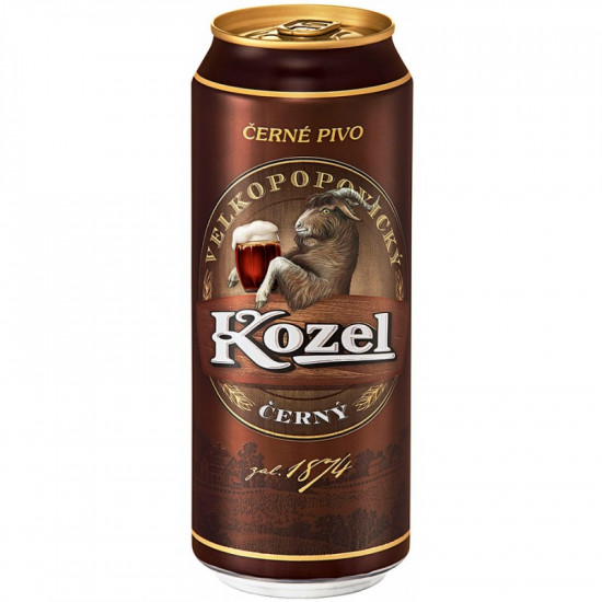Пиво Velkopopovický Kozel темное 0,5 л ж/б
