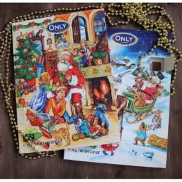 Адвент календарь с шоколадом ТМ ONLY 75 г