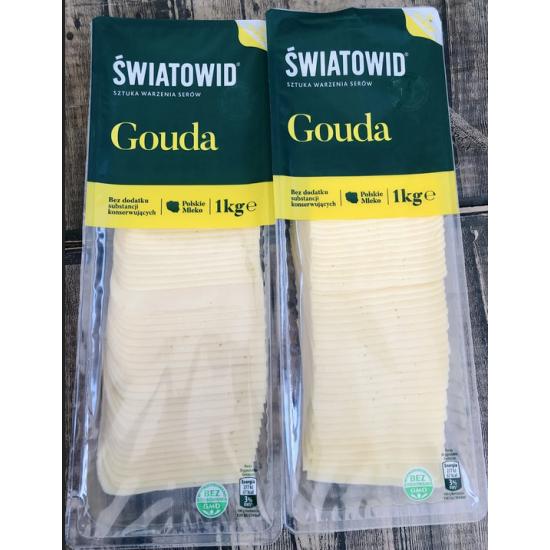 Сыр Gouda нарезка 1кг, Swiatowid (Польша)