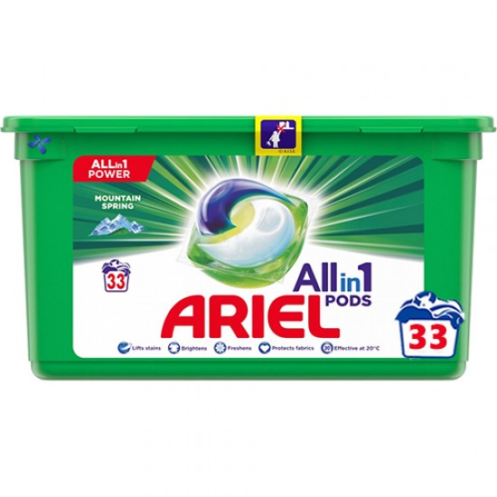 Капсулы Ariel 3в1 Mountain Spring 33шт