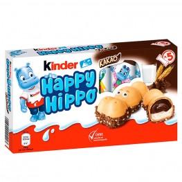 Киндер с какао-кремом KINDER Happy Hippo Kakao Бегемотики  5 шт