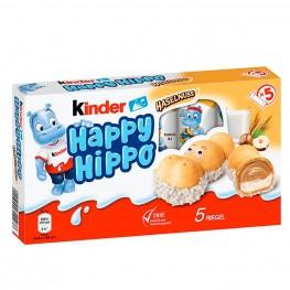 Киндер с какао-кремом KINDER Happy Hippo Haselnuss Бегемотики  5 шт