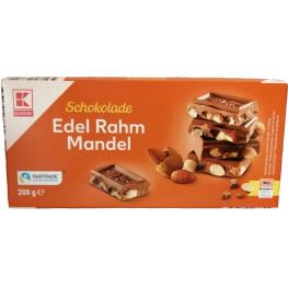 Шоколад молочный K-Classic Edel Rahm Mandel с цельным миндалем 200 г
