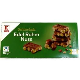 Шоколад молочный K-Classic Edel Rahm Nuss с цельным фундуком 200 г